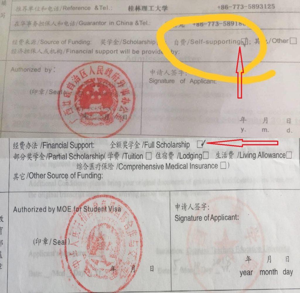 Học bổng Trung Quốc thật và giả